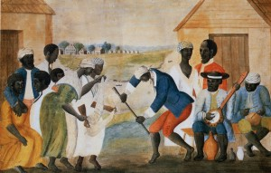 1790 Painting of Early African-American Dance and Music