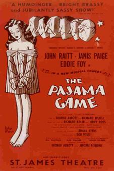The Pajama Game 1954 Poster