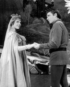 Richard Burton and Julie Andrews in the Lerner and Loewe show, Camelot