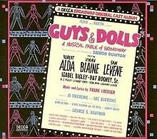 LP cover of the original cast album of Guys and Dolls