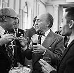 RIAN archive Photo of Mstislav Rostropovich, George Balanchine and Yuri Grigorovich