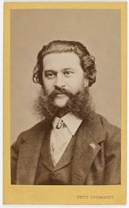 Johann Strauss II Portrait by Fritz Luckhardt
