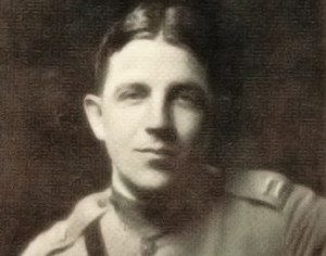 Laurence Stallings Photo 1918 wearing Croix de Guerre WWI, American Playwright