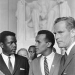 March on Washington 1963 Photo of Sidney Poitier, Harry Belafonte, Charlton Heston