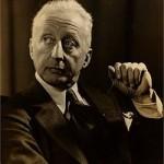 Jerome Kern 1930's Portrait by Alfredo Valente, American Broadway Composer