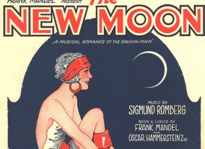 Sheet music cover art for 1928 New Moon by Sigmund Romberg, American Composer