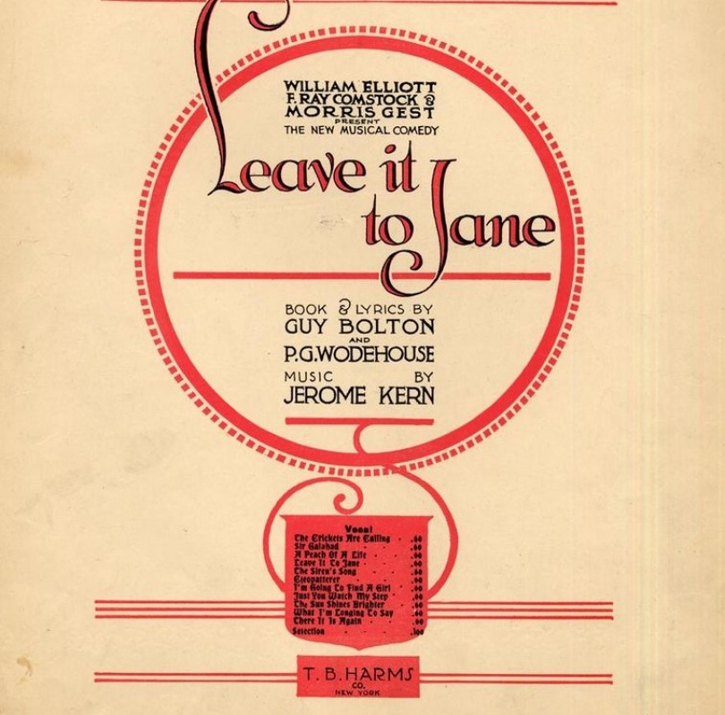 Leave It to Jane Poster, Jerome Kern, American Composer