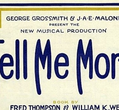TELL ME MORE (1925)